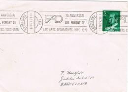 32584. Carta BARCELONA 1978. Rodillo Especial FAD. 75 Aniversario Fomento Artes Decorativas - 1931-Hoy: 2ª República - ... Juan Carlos I