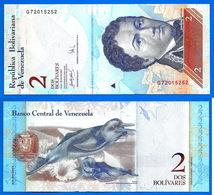 Venezuela 2 Bolivares 2007 UNC NEUF Qe Prix + Port Oiseau Bird Paypal Skrill Bitcoin OK - Venezuela