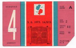 YUGOSLAVIA, SERBIA, BEOGRAD , EUROPEAN AMATEUR BOXING CHAMPIONSHIP 1973, BES 73 - Tickets - Vouchers