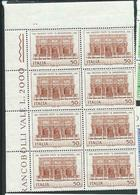 Italia 1970; Il Sansovino, Loggetta Del Campanile Di San Marco; Blocco D' Angolo Superiore Di 8 Valori = 2 Quartine - 1961-70:  Nuovi