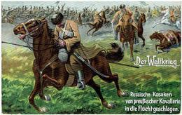 DER WELTKRIEG - Russische Kosaken Von Preußischer Kavallerie In Die Flucht Geschlagen - казаки - Feldpost - Guerre 1914-18