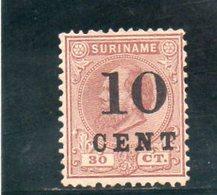 SURINAME 1898 SANS GOMME - Surinam ... - 1975