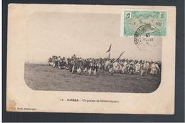 ETHIOPIE Harrar Un Groupe De Soldats Abyssins 1913 OLD  POSTCARD - Ethiopië