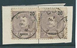 Portugal  Correios Paar 20 Reis  Met Opdruk Congo - Congo Portugais