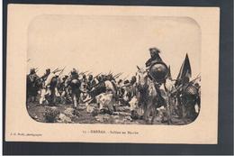 ETHIOPIE Harrar Soldats En Marche  Ca 1910 OLD  POSTCARD - Ethiopia