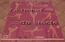 AFFICHE CINEMA ORIGINALE LE TICKET DU SIECLE Fête Du Cinema 100 Ans De Cinéma TB ILLUSTRATION 1995 TBE - Affiches & Posters