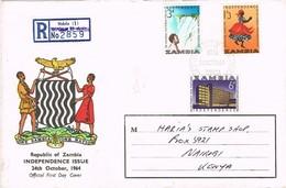 32588. Carta Certificada NDOLA (Zambia) 1964. Independence Issue - Zambia (1965-...)