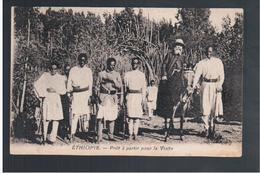 ETHIOPIE Prèt à Partir Pour La Visite  Ca 1910 OLD  POSTCARD - Ethiopië