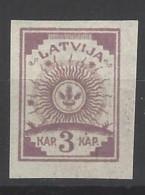 Lettonia - 1919 - Nuovo/new MH - Stemma - Mi N. 6 - Lettonia