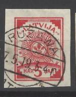 Lettonia - 1919 - Usato/used - Stemma - Mi N. 7 - Lettonia