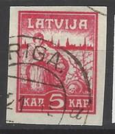 Lettonia - 1919 - Usato/used - Liberazione - Mi N. 25 - Lettonia