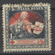 Lettonia - 1920 - Usato/used - Croce Rossa - Mi N. 54 - Lettonie