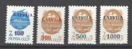 Lettonia - 1991 - Nuovo/new MNH - Ordinari Sovrastampati - Mi N. 313/16 - Lettonia
