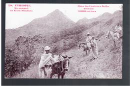 ETHIOPIE Au Sommet Du Gara-Moullata - Dans Les Contrées Galla Altitude 3000 Mètres Ca 1910 OLD  POSTCARD - Ethiopië