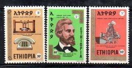 ETP197B - ETIOPIA 1976 ,  Yvert  N. 773/775 *** MNH TELEFONO - Ethiopia