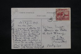 CONGO BELGE - Oblitération Maritime Sur Carte Postale Pour La Belgique En 1927 - L 28340 - Congo Belge