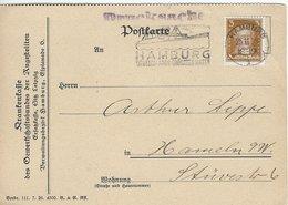 Postkarte -  Drucksache. Used Hamburg 1929.  Germany.    H- 602 - Germany