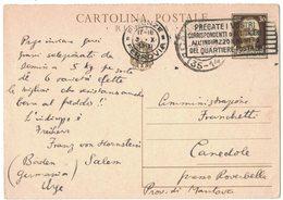 AN176   Regno Firenze 1933 Cartolina Postale Per Canedole Annullo Frazionario - Storia Postale