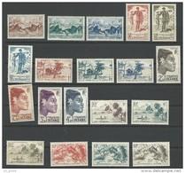 """Oceanie Yt 182 à 200 """" Serie Courante """" 1948 Neuf** - Oceania (1892-1958)"""