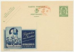 Publibel - Postal Stationery Belgium 1935 Bicycle - Sarolea - Radsport