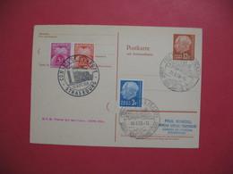 Sarre 1958  Entier Postal Postkarte   Avec Carte Réponse - Strasbourg  Et Taxes Types Gerbes - Entiers Postaux