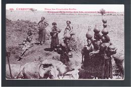 ETHIOPIE Dans Les Contrées Galla - Femmes De La Tribu Des Ala, Revenant De La Fontaine Ca 1910 OLD  POSTCARD - Ethiopië