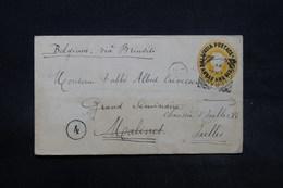 INDE - Entier Postal De Magrahat Pour La Belgique En 1892 , Voir Cachets Au Verso - L 28342 - 1882-1901 Imperium