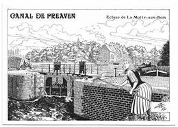 D74 - LES BELLES ECLUSIERES DES CANAUX OUBLIES-CANAL DE PREAVEN-ECLUSE DE LA MOTTE AUX BOIS - France