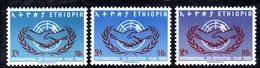 ETP120 - ETIOPIA 1965 ,  Yvert  N 455/457    ***  ONU - Etiopia