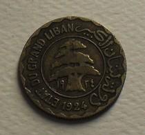 1924 - Liban - Lebanon - 10 PIASTRES SYRIENNES - KM 1 - Lebanon