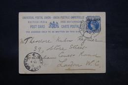 INDE - Entier Postal De Lahore Pour Londres En 1898 , Voir Cachet Maritime - L 28345 - 1882-1901 Imperium