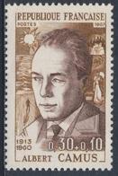 France Rep. Française 1967 Mi 1589 YT 1514 Sc B407 SG 1738 ** Albert Camus, Writer / Schriftsteller, Nobelpreis (1957) - Nobelprijs