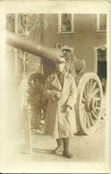 Carte-photo -  Militaire Près D' Un Canon De 155 - Guerre 1914-18