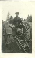Carte-photo -  Militaire Du 11° Sur Un Canon De 155 - Guerre 1914-18