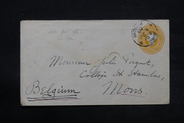 INDE - Entier Postal De Biru Pour La Belgique En 1909 , Cachet Maritime De Bombay - Aden Au Verso - L 28349 - 1882-1901 Imperium