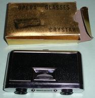 Ancienne Petite Paire De Jumelles Pliantes Made In Japan, Théatre, De Poche, CRYSTAR LENS Opera Glasses Pocket Binocular - Autres Appareils
