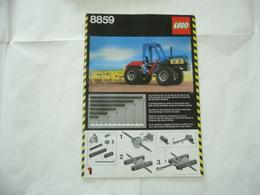 LEGO TECHNIC SOLO MANUALE ISTRUZIONI COSTRUZIONE 8859 TRATTORE VINTAGE - Catalogs