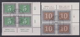 SUISSE 1945:  Blocs De 4 De La Série 'PAX', Les 6 Premières Valeurs (ZNr 262-267), CDF (5) Ou BDF (1), Oblitérés  LUXE ! - Schweiz