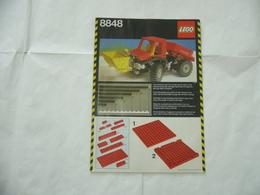 LEGO TECHNIC SOLO MANUALE ISTRUZIONI COSTRUZIONE 8848 TRATTORE VINTAGE - Cataloghi