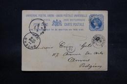 INDE - Entier Postal De Dharamtala Pour Bruxelles En 1890 Via Bombay , Cachet Maritime - L 28353 - 1882-1901 Imperium