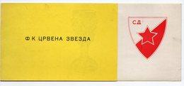 YUGOSLAVIA, SERBIA, BEOGRAD, CRVENA ZVEZDA, RED STAR, 1959 INVITATION - Tickets - Vouchers