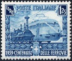 ITALIA, ITALY, REGNO, FERROVIE ITALIANE, 1939, 1,25 L., NUOVO (MNH**) Sass. 451,  Mi. 622,  Scott 412,  YT 431 - Neufs