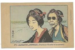 JAPON - N° 3. SILHOUETTES JAPONAISES - Chanteuse (GUESHA) Et Sa Servante - CPA - Sonstige