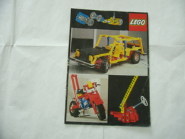 LEGO TECHNIC SOLO MANUALE ISTRUZIONI COSTRUZIONE 850-854-870 TRATTORE VINTAGE - Cataloghi