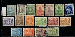 Italie Occupation - Italy - Italien 1919 Y&T N°32 à 48 - Michel N°32 à 48 * - Fiume - Diverses Représentations - Occupation 1ère Guerre Mondiale