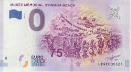 Billet Touristique 0 Euro Souvenir France 14 Musée Mémorial Omaha Beach 2019-2 UEQF000621 - Essais Privés / Non-officiels
