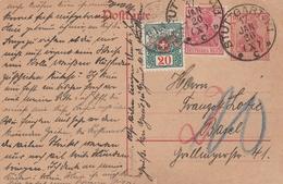 Allemagne Entier Postal Stuttgart Taxé En Suisse 1920 - Deutschland