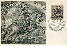 44684  Germany Ddr, Maximum 1957 Tag Der Briefmarken ,  Stamp Day, Mi-600 - Postreiter - - DDR