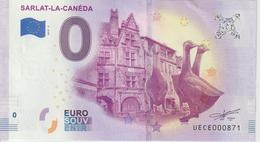 Billet Touristique 0 Euro Souvenir France 17 Sarlat La Canéda 2019-3 UECE000871 - EURO