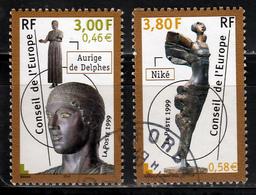 Frankrijk Conseil De L,Europe Mi 55,56 Gestempeld Fine Used - Dienstzegels